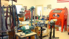 Shop tools, polishers, sanders and grinders.