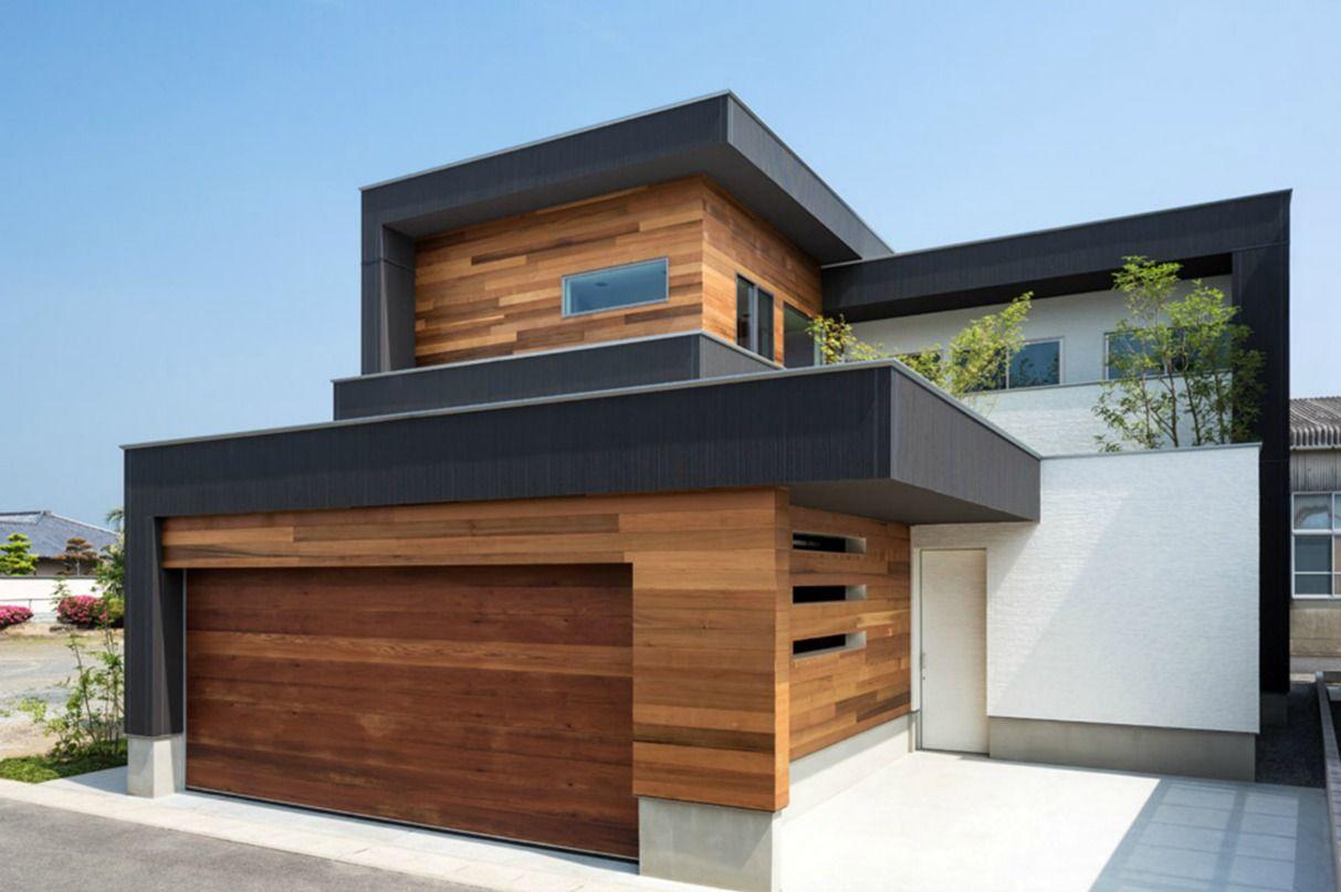 Fachadas De Casa Moderna Con Puerta De Garaje