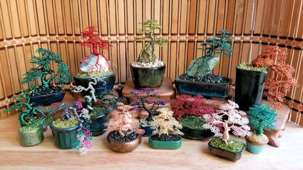 Miniature Wire Bonsai Trees