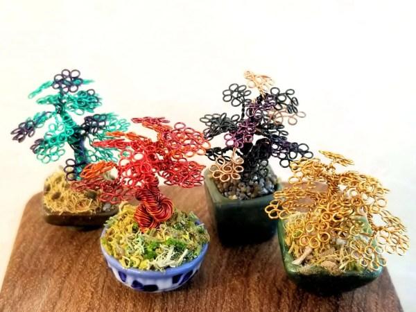 Small Micro Wire Bonsai Trees
