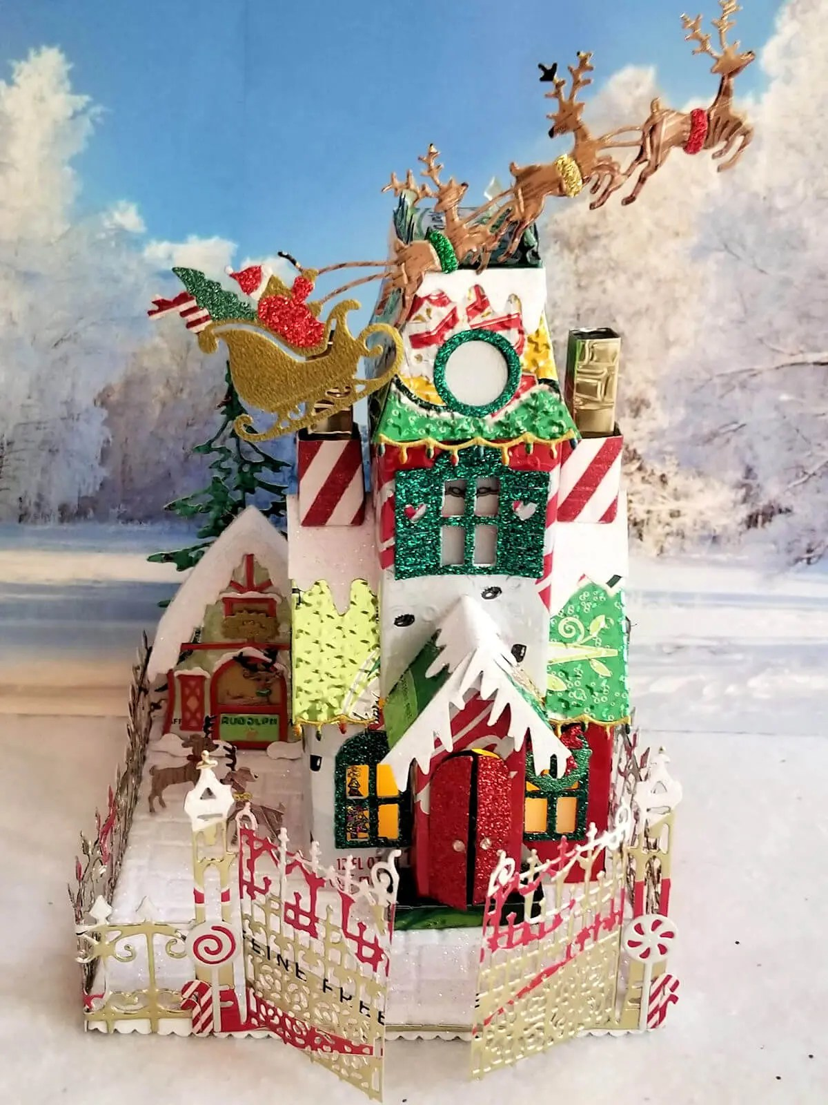 Christmas Manor #1 aluminum can house