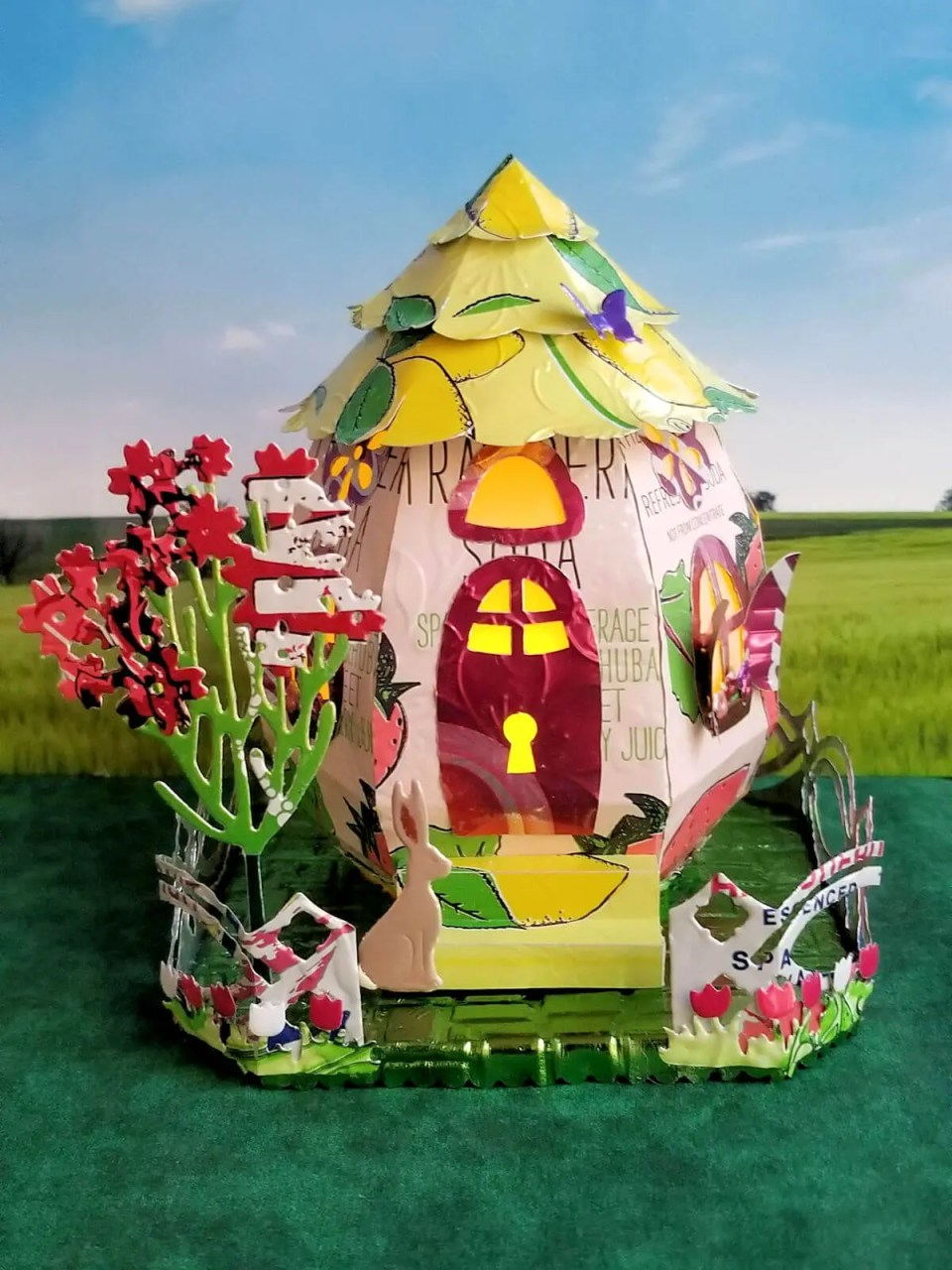 Egg Cottage #1 aluminum can house