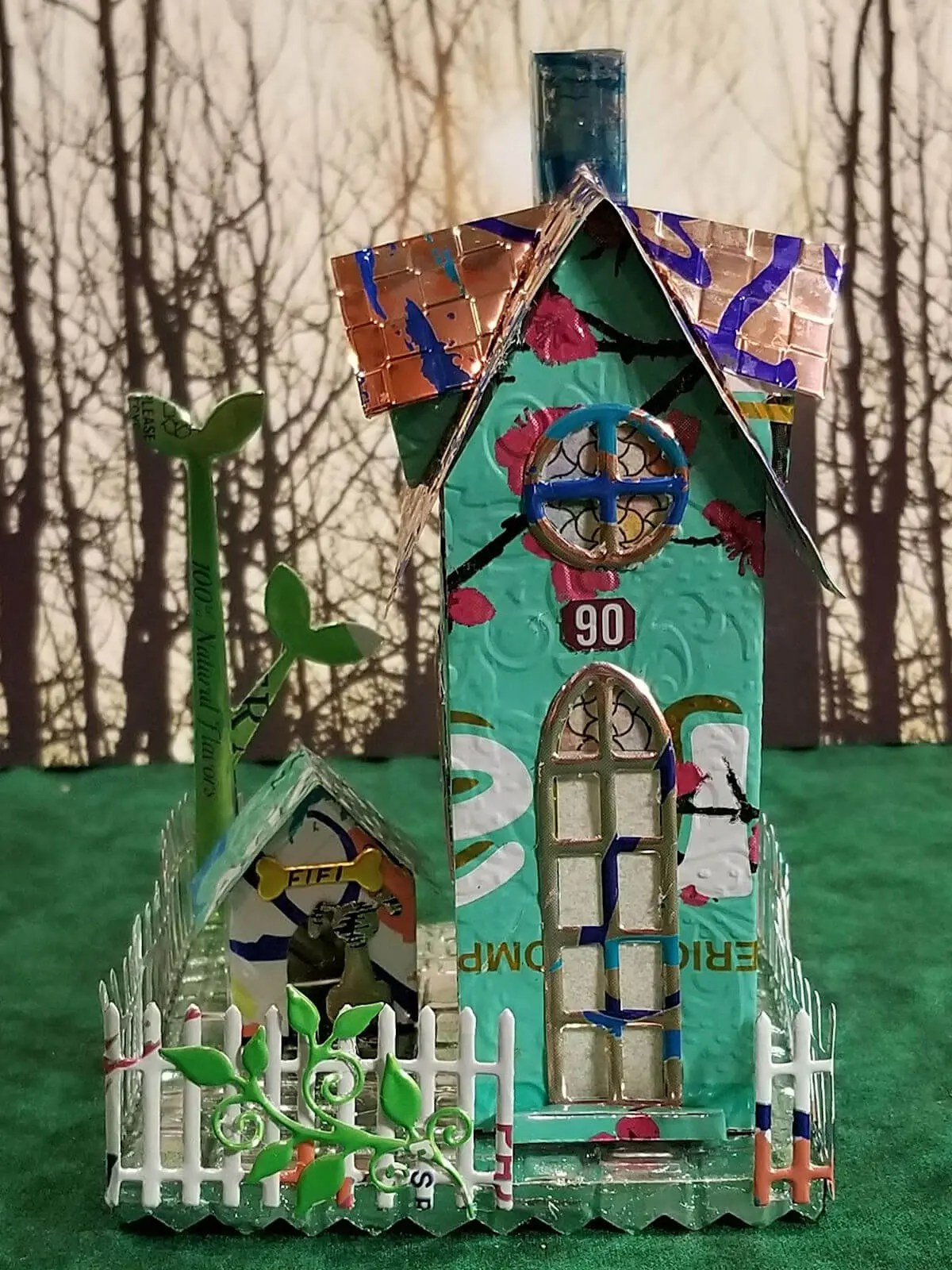 Gabled Brownstone #3 aluminum can house