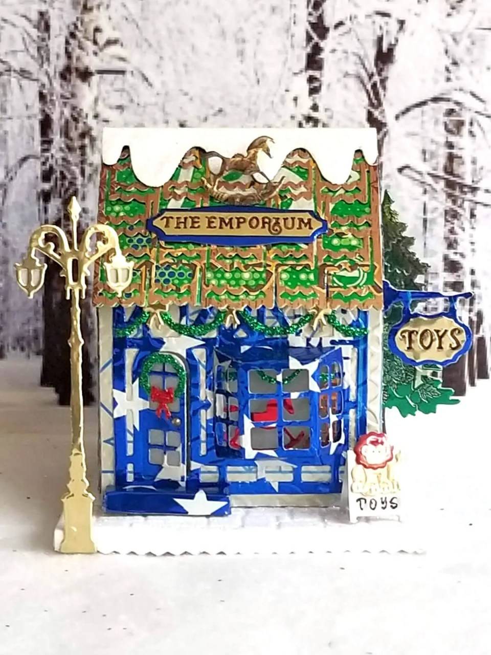 Winter Toy Shoppe #3 aluminum can house