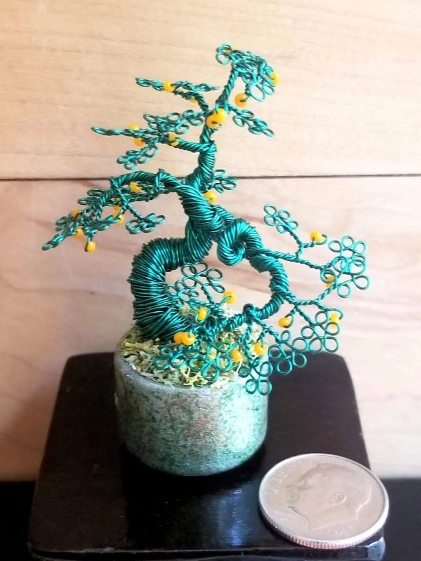 Miniature Wire Bonsai Tree M13 image 4 of 5