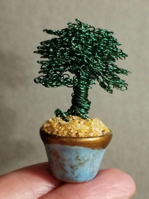 Miniature Wire Bonsai Tree M6 image 3 of 5