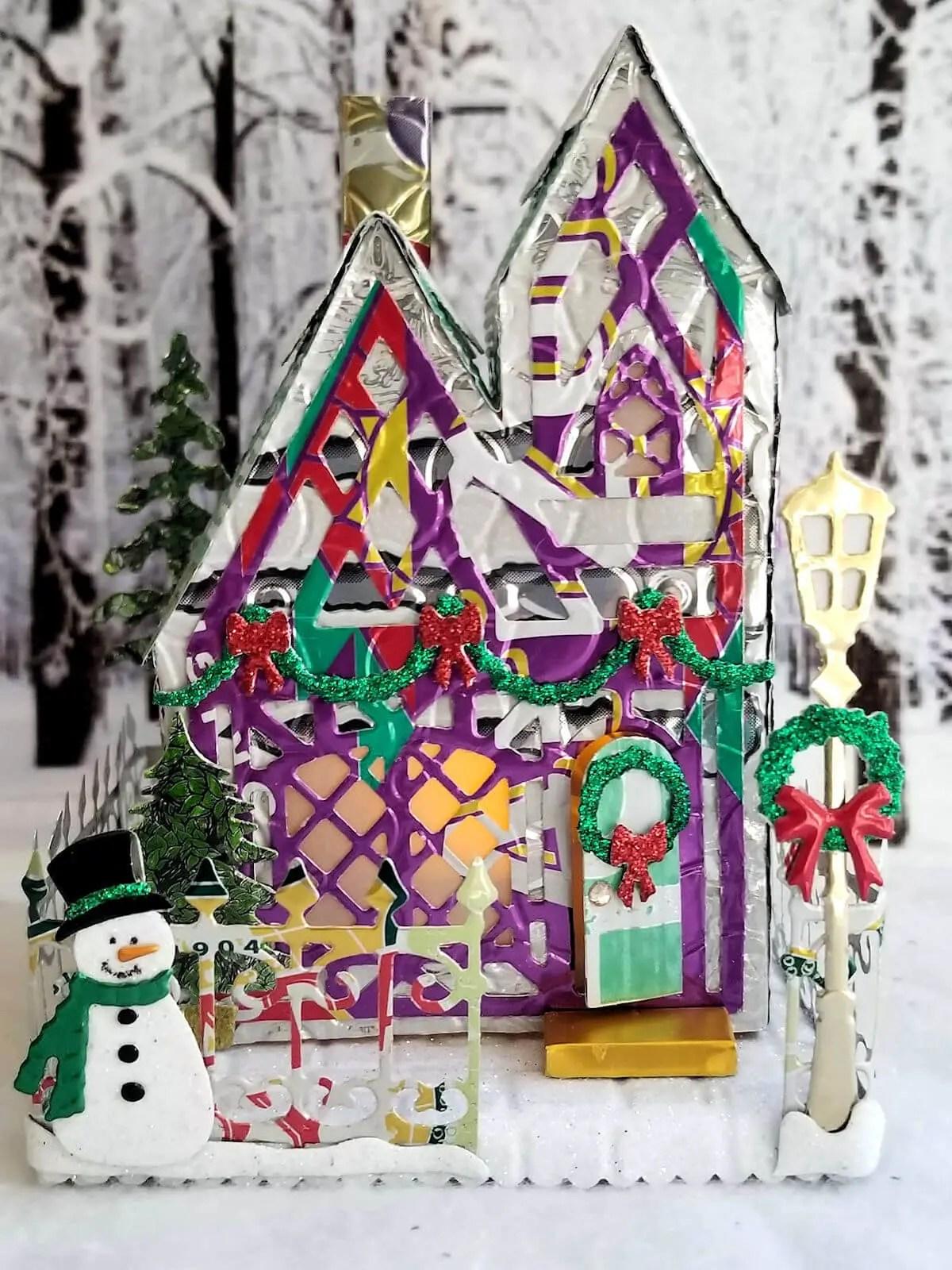 Winter Tudor Cottage #2 aluminum can house