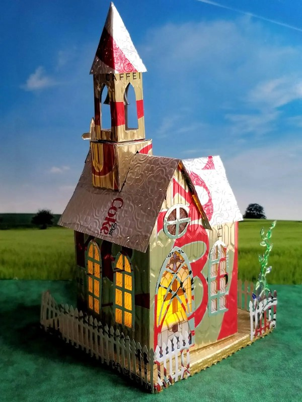 Village Church aluminum can house image 5 of 6