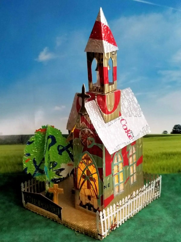 Village Church aluminum can house image 2 of 6
