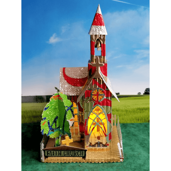 Village Church aluminum can house image 1 of 6