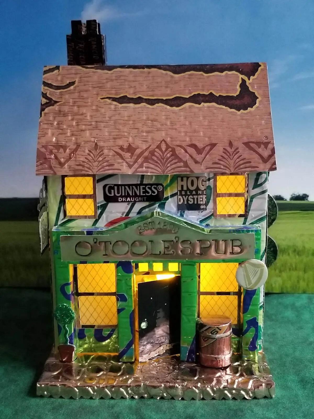 Village Pub #1 aluminum can house