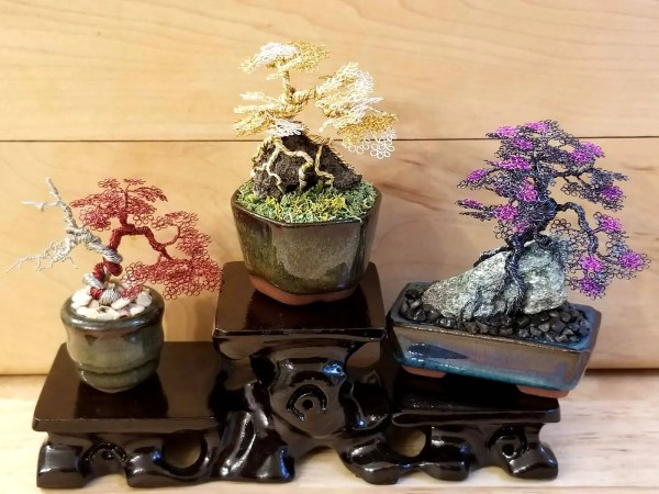 Large Miniature Wire Bonsai Trees
