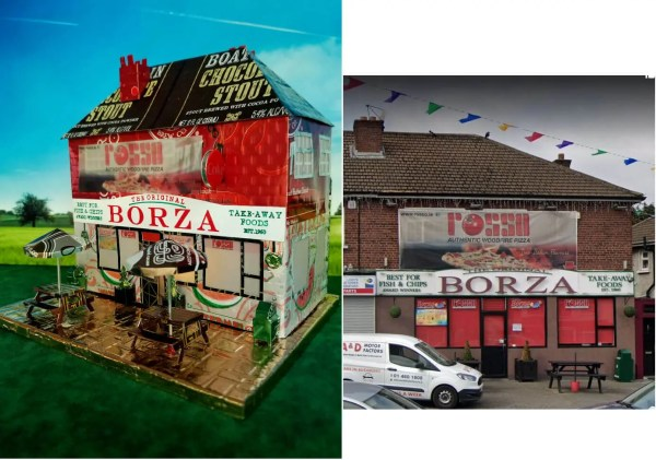 Borza Fish & Chips and real building