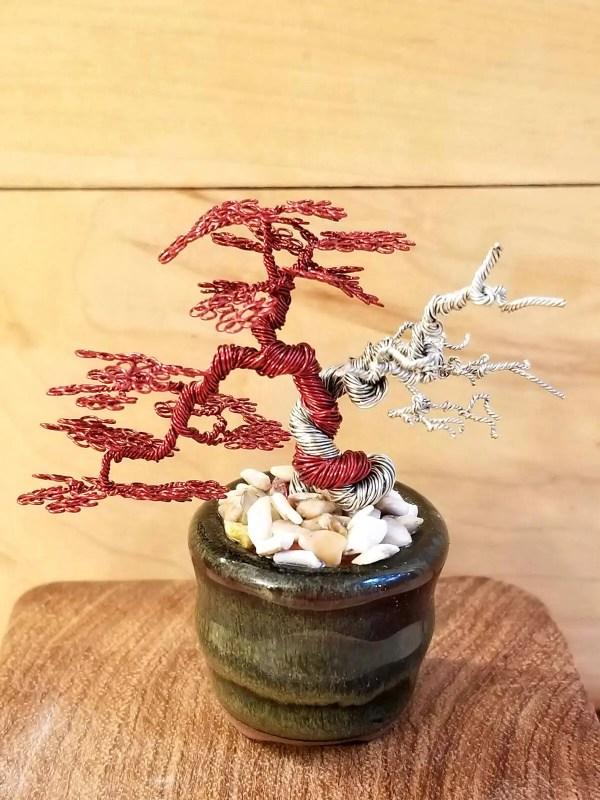 Miniature Wire Bonsai Tree L16 image 3 of 5