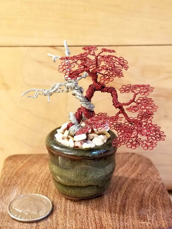 Miniature Wire Bonsai Tree L16 image 4 of 5