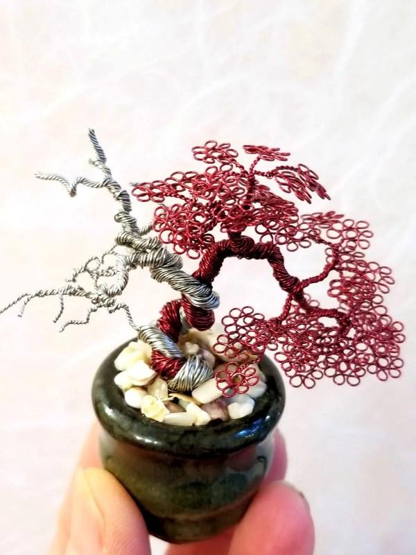 Miniature Wire Bonsai Tree L16 image 2 of 5