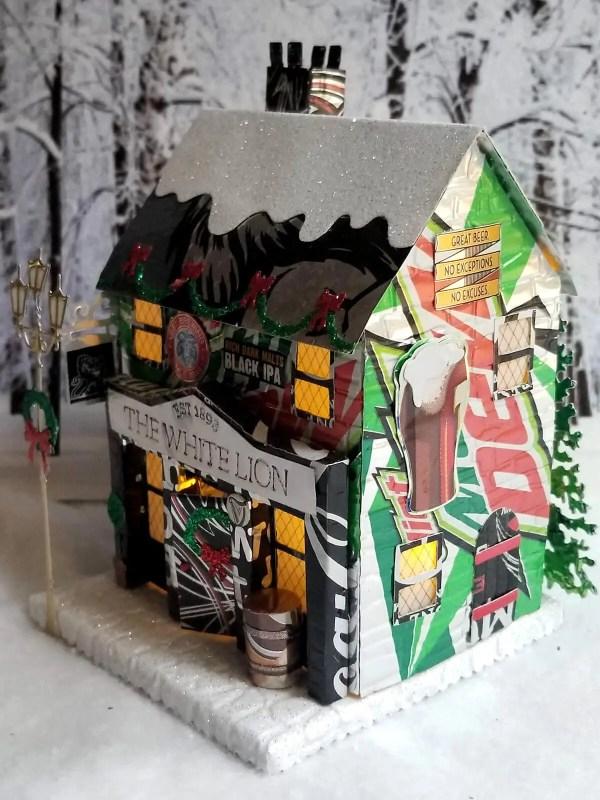 Winter Village Pub aluminum can house image 2 of 7
