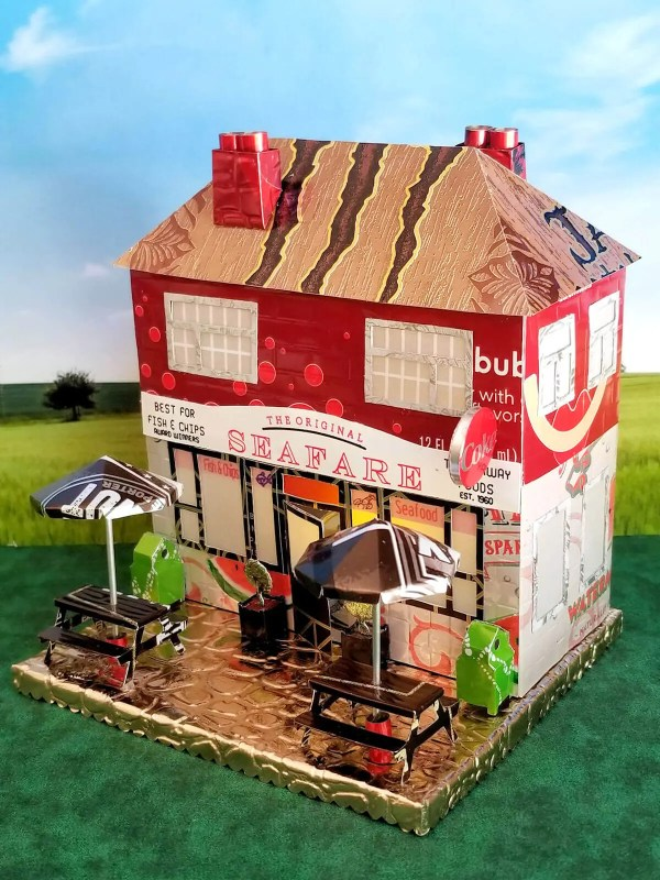 Fish & Chips aluminum can house image 2 of 6