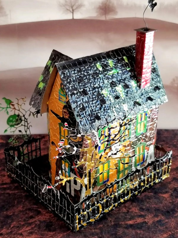 Spooky Halloween House aluminum can house image 7 of 9