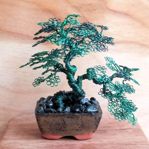 Sokan Miniature Wire Bonsai Tree