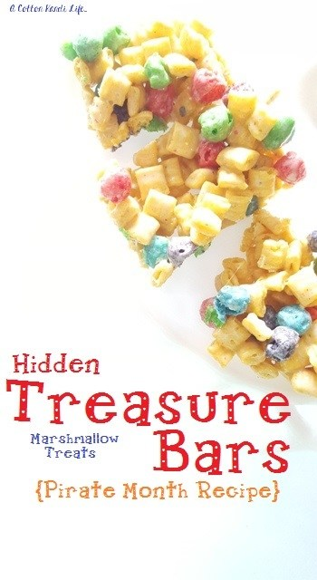 Hidden Treasure Bars Marshmallow Treats A Cotton Kandi