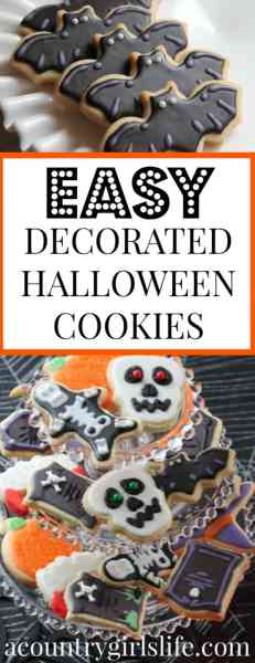 EASY Halloween Decorated Sugar Cookie Inspiration (Halloween MEGA POST Preview)