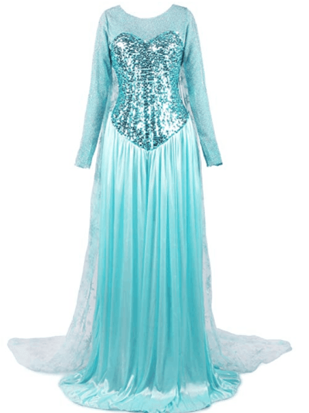 easy last minute disney costume for women on Amazon elsa