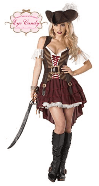 easy last minute disney costume for women on Amazon pirates of the caribbean