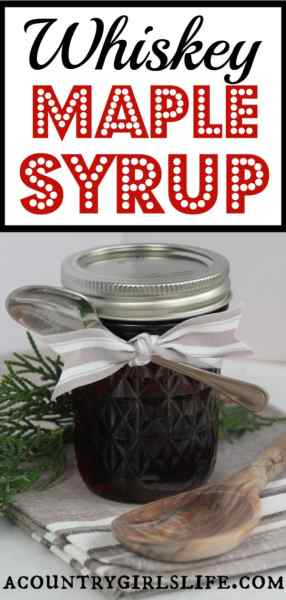 Whiskey Infused Maple Syrup Gift in a Jar +Free Printable Labels