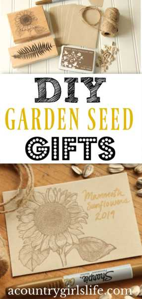 Easy DIY Gifts: Garden Seed Packets