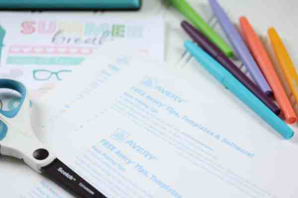 how to print your own planner stickers