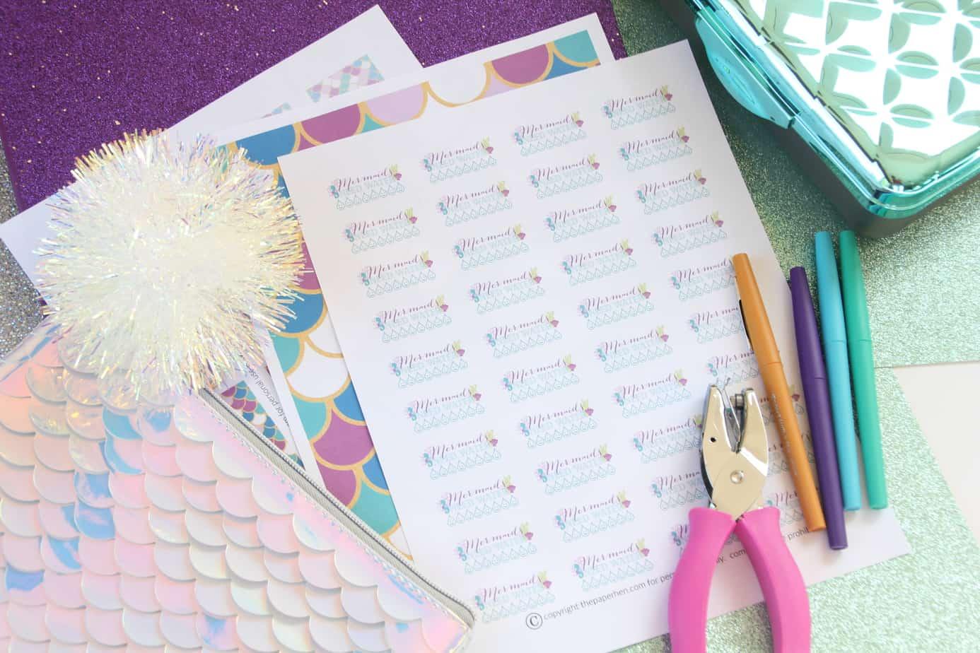 mermaid planner stickers