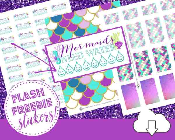 mermaid planner stickers