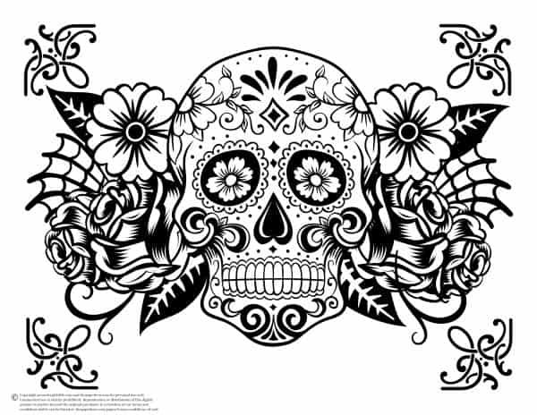 FREE Sugar Skull Coloring Pages to Spark Your Creativity