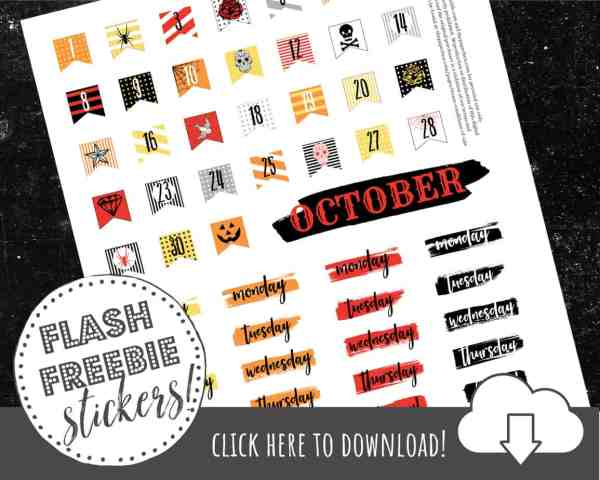 FREE Printable Halloween Stickers for Dia De Los Muertos