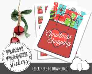 FREE Printable Christmas Stickers to Decorate Your Happy Planner!