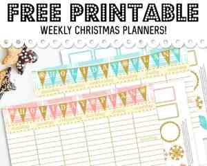 FREE Printable Christmas Weekly Planner + Planner Decorating Stickers to CRUSH Your Holiday Goals!
