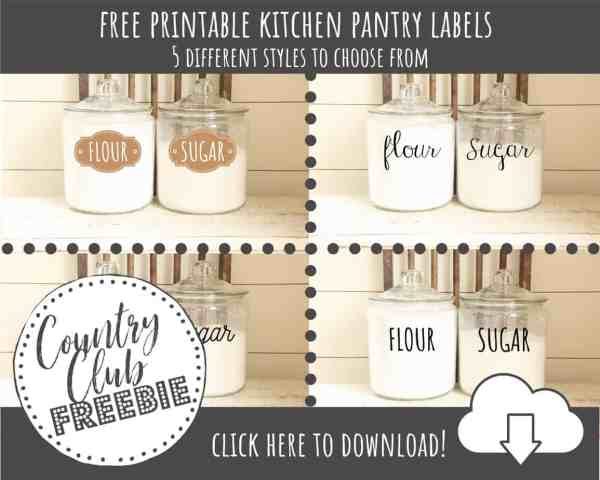 FREE Printable Kitchen Pantry Labels – 5 Hand Lettered Labels to Instantly Organize Your Kitchen!