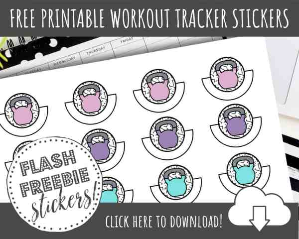 FREE Printable Fitness Planner Stickers to ROCK Your Resolutions!