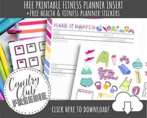 FREE Printable Fitness Planner Tracker to CRUSH Your Health Goals!