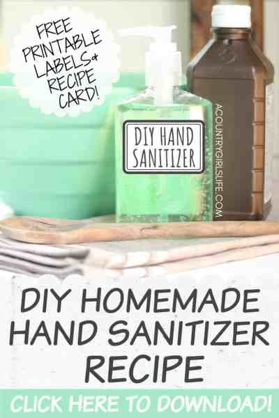 Homemade DIY Hand Sanitizer Gel
