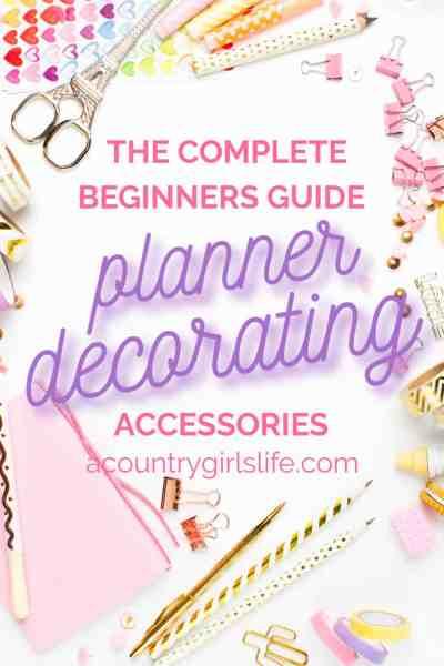 best planner accessories