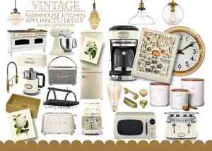 25+ Vintage Inspired Farmhouse Kitchen Appliances & Decor Finds!