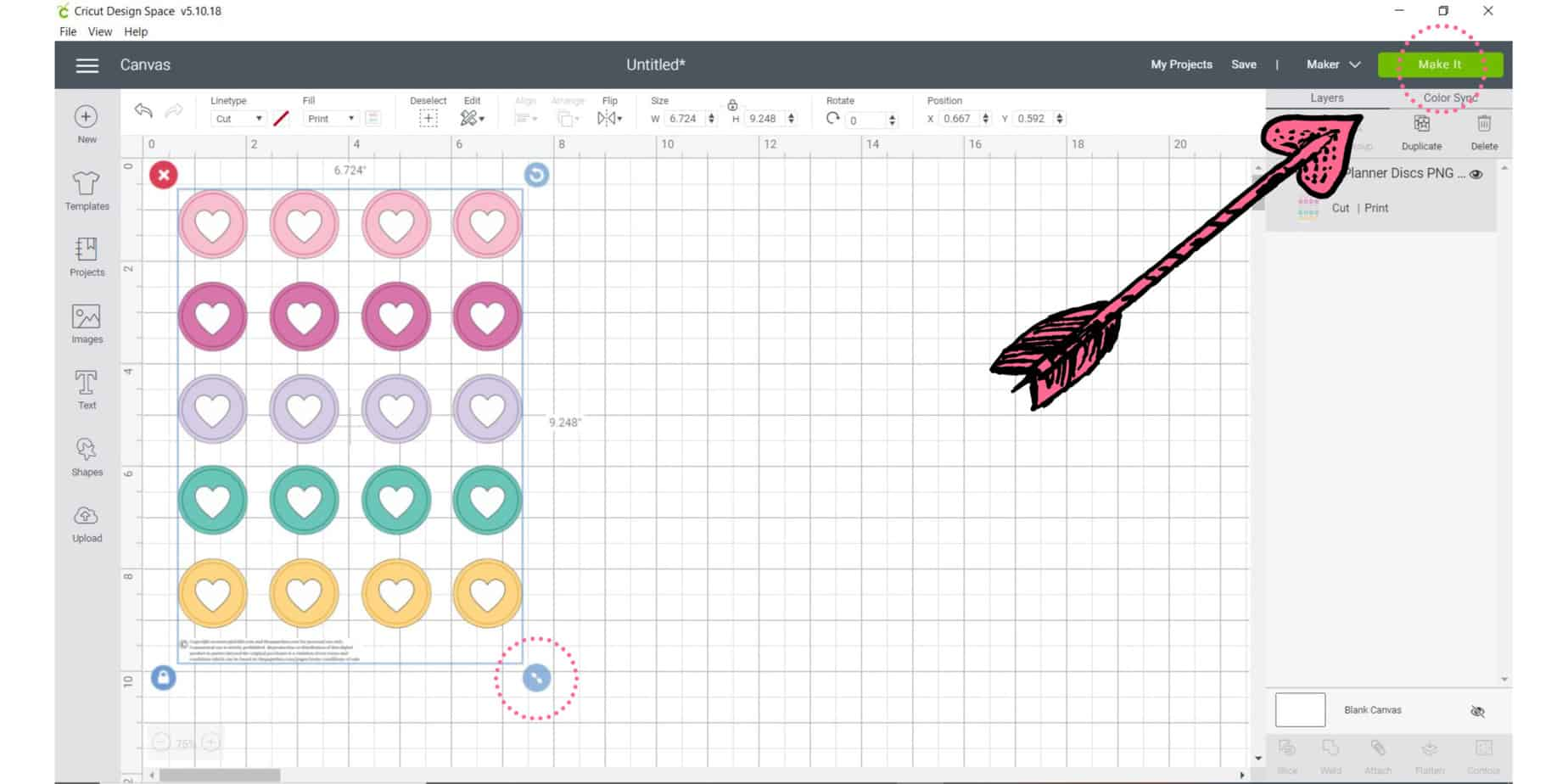 how to make stickers with a cricut