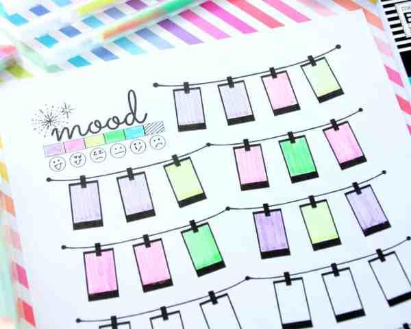 free printable mood tracker