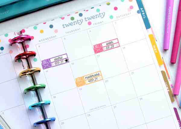 free printable planner stickers bill pay for budgeting
