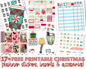 17+ FREE Printable Christmas Planner Stickers, Inserts & Accessories to Decorate Your Planner for the Holidays