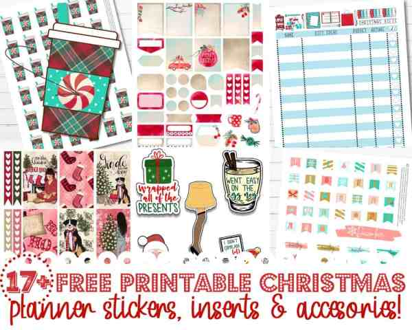 free printable christmas planner stickers inserts and accessories