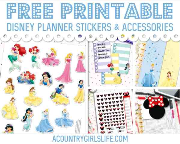 free printable disney princess planner stickers planner tabs die cuts and accessories