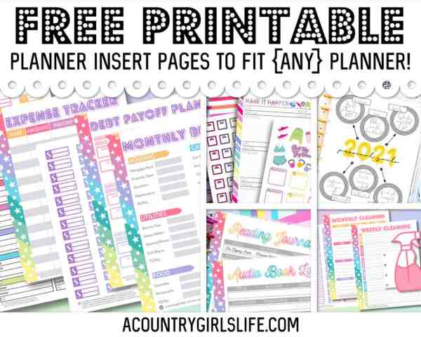 FREE Printable Planner Inserts for {ANY} Size Planner!